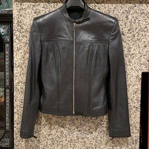 Gucci biker G closure leather vintage jacket 4